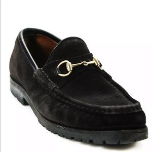 Vintage Gucci hoursebit loafers